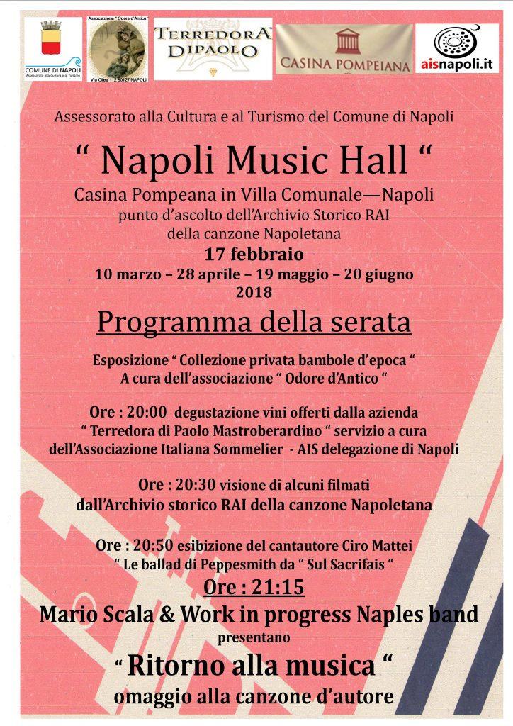 A Napoli 5 concerti per 'Ritorno alla Musica', viaggio nell'evoluzione della musica italiana