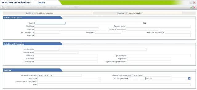 2 Cómo generar la petición a depósito a través de AbsysNet