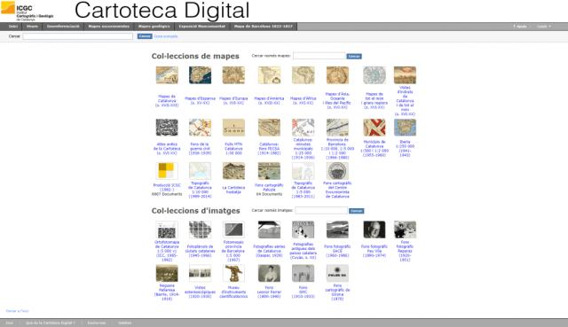 Cartoteca Digital del Institut Cartogràfic i Geològic de Catalunya