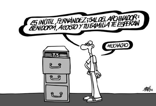 El archivador como escondite