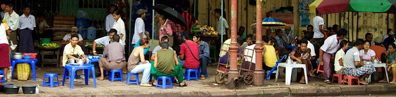 Myanmar sillas y mesas de guarderia