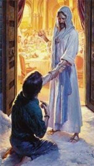 Jesucristo recibe al hijo arrepentido