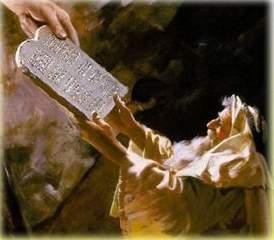 Dios entrega la Ley a Moisés