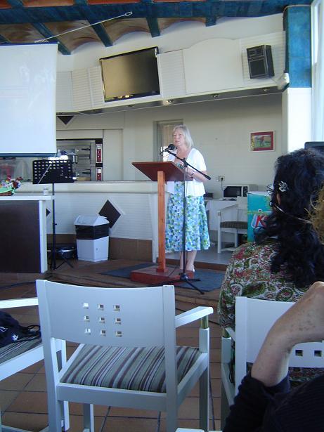 Tina presenting Worship