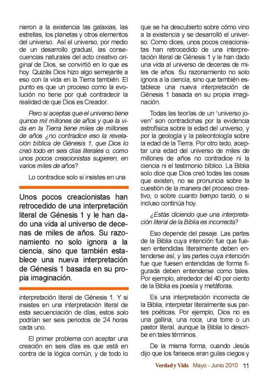 Creación y Evolución Página 5