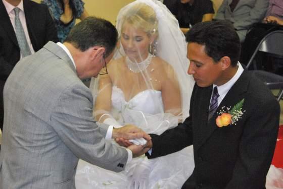 Bendición del matrimonio Denoel y Suzana