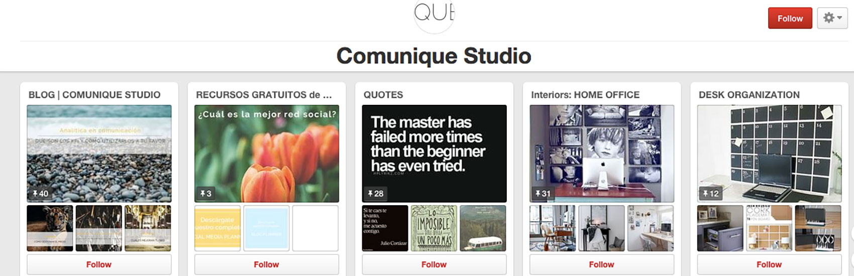 Pinterest y la inspiración