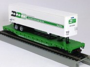 Burlington Northern Flat with BN Trailer