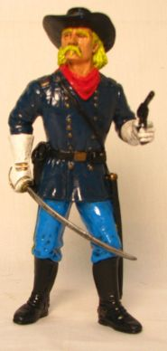 "Comansi of The Wild West Hand Painted 7"" Action Figure General Custer"