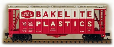 HO 2600 Cu Ft Airslide Covered Hopper (R.T.R.) Bakelite Plastics) (01-97056)