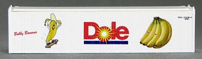 N 40 Ft TK Reefer Container Dole/Bobby Banana Skateboard (White ) (01) 4-43112