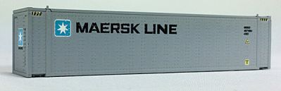 N 45 Ft Cont Maersk, Medium Lettering, Gray Container (04044006) (02)
