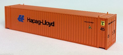N 45 Ft Corrugated Container Hapag Lloyd (Orange) (01) 04-44113