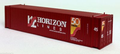 N 45 Ft Corrugated Container Horizon Lines (50th) (Brown) (01) 04-44115