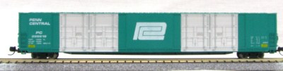 N Scale 8 Door 85 Ft Hi-Cube, Penn Central (with MT couplers) 01-014632