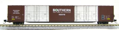 N Scale 8 Door 85 Ft Hi-Cube, Southern Ry (with MT couplers) 01-014636