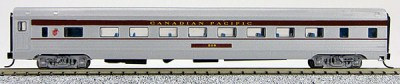 N Budd Canadian Pacific (Silver w/maroon letterboard)