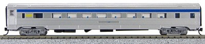 N Budd Via Rail (Silver Car with Blue and yellow)