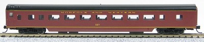 N Con-Cor Smooth Side Passenger Cars Norfolk & Western Tuscan Red (1-40022)