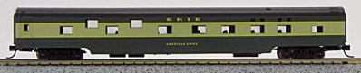 N Con-Cor Smooth Side Passenger Cars Erie (2 tone green) (1-40048)