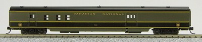 N Con-Cor Smooth Side Passenger Cars Canadian National Ry (Green & Black) (1-40037)
