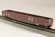 HO Gondola /with Resin Tie Half load Canadian National Railway - Brown (02)