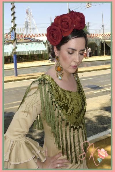 Mi vestido de flamenca de Ángeles Verano en la Feria Abril 2014