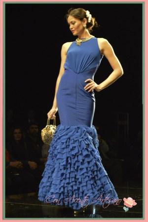 Azul klein para vestido de flamenca de Patricia Bazarot