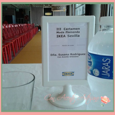 Susana Rodríguez, blogger de Con Acento Artesano, jurado y presidenta de jurado en III Certamen Moda Flamenca IKEA Sevilla