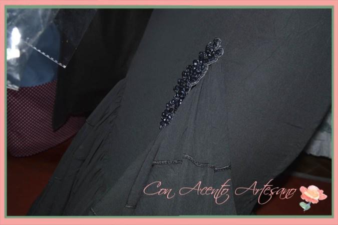 Detalle de traje de flamenca negro de Viviana Iorio