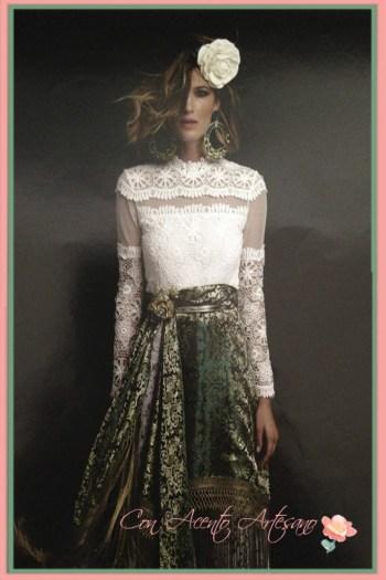 Laura Sanchez vestida de Antonio Moro para la revista 'We Love Flamenco'