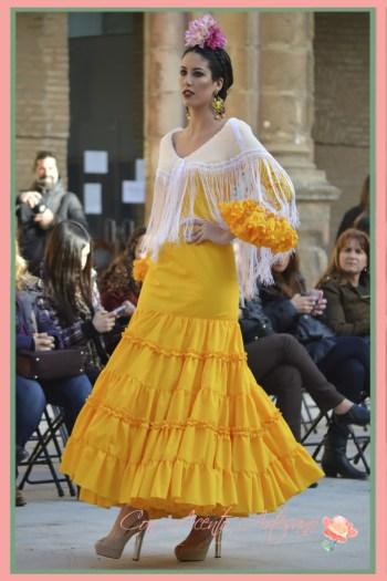 Canastero amarillo de Ángeles Copete en Pasarela Wappissima 2016