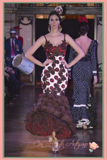 Vestido rociero de Sánchez Murube colección Cronolorquiía