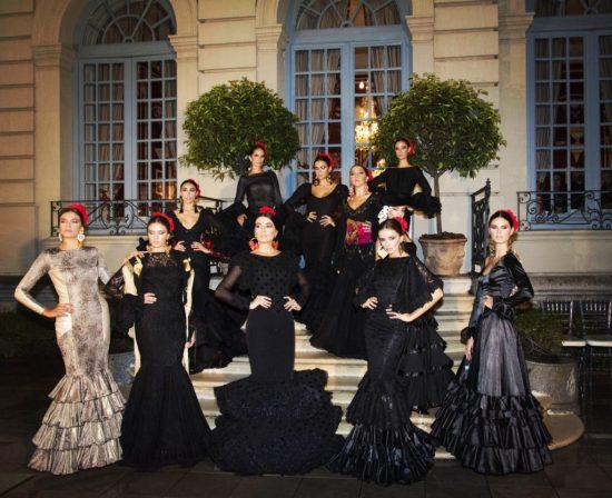 Desfile trajes de flamenca en la presentación We Love Flamenco y Viva by We Love Flamenco en el Hotel Santo Mauro en Madrid