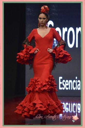Traje de flamenca rojo de Cinta Coronel