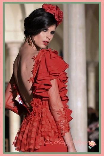 Traje de flamenca rojo de El Madroñal, Imagen cedida por Pepe Catalán
