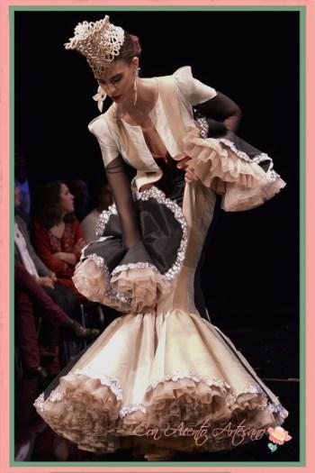 Doble traje de flamenca con cremallera de Francisco Tamaral