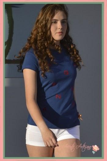 Camiseta azul de Spagnolo Moda