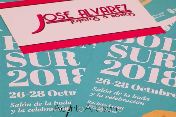 Cartel de Boda Sur, feria nupcial en la que participa José Álvarez Joyeros