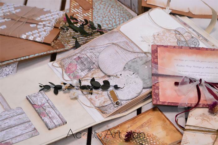 Álbum de firmas e invitaciones de boda de Ópalo Negro