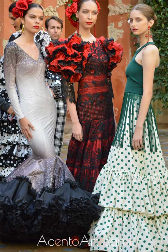 Diseños que trajes de flamenca que desfilarán en SIMOF2019