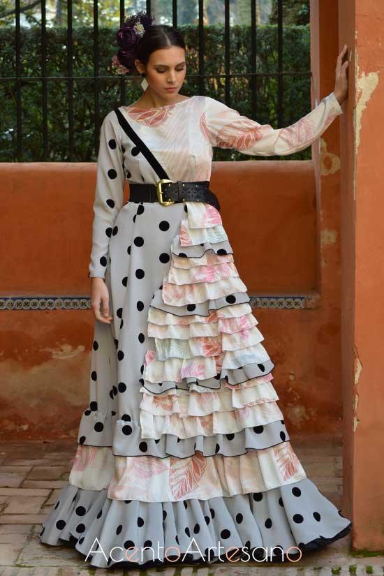 Traje de flamenca de Adelina Infante