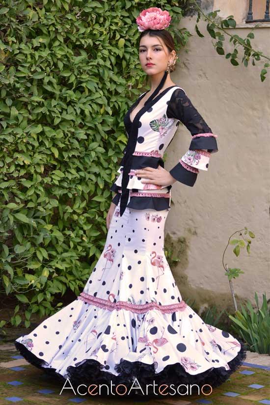 Traje de flamenca de Amalia Vergara
