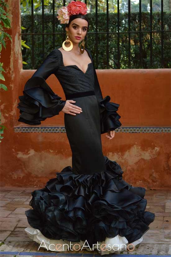 Traje de flamenca de Miriam Galvín