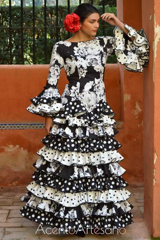 Traje de flamenca de Pilar Vera