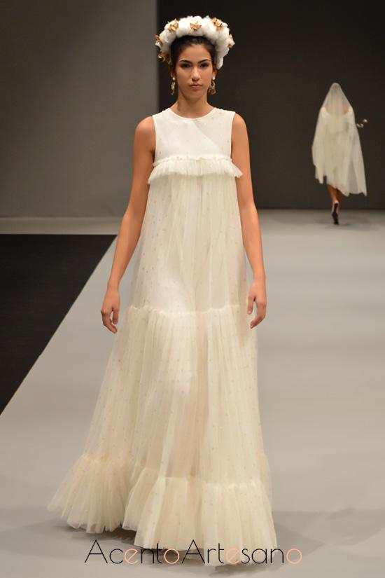 Vestido de novia canastero de María Amador