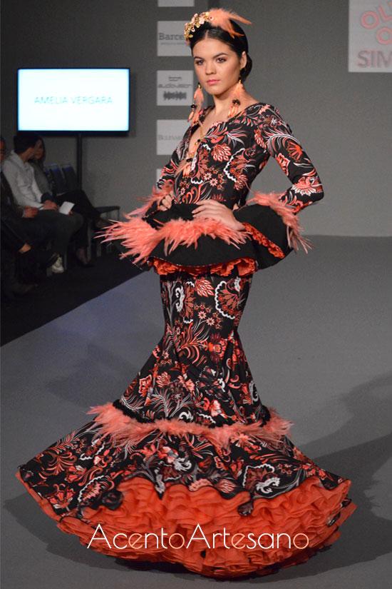 Traje de flamenca de Amalia Vergara en Olé Olá SIMOF