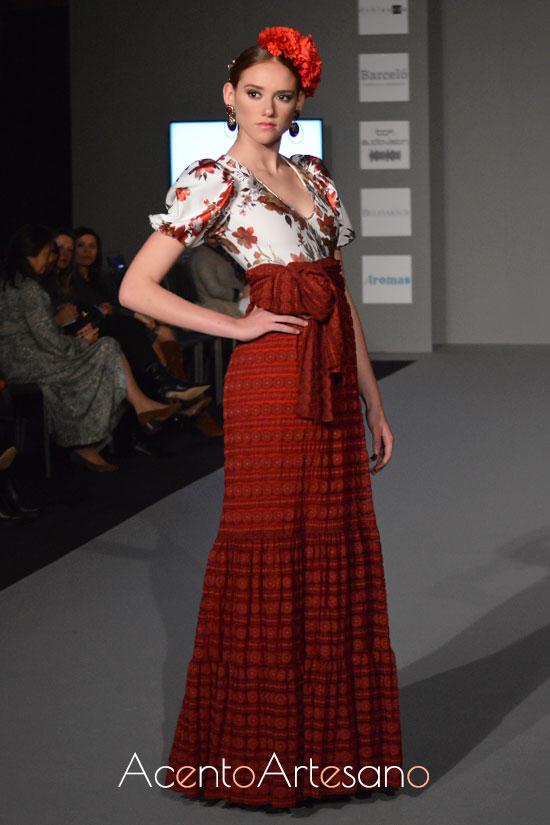 Traje de flamenca de Ángeles Gálvez en Olé Olá SIMOF