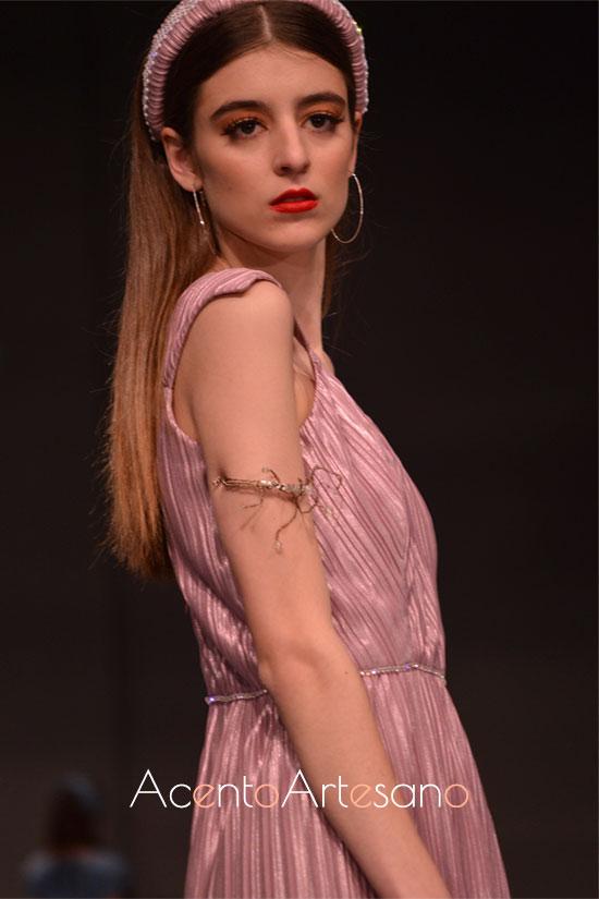 Vestido de fiesta largo midi de Eva Valderrama