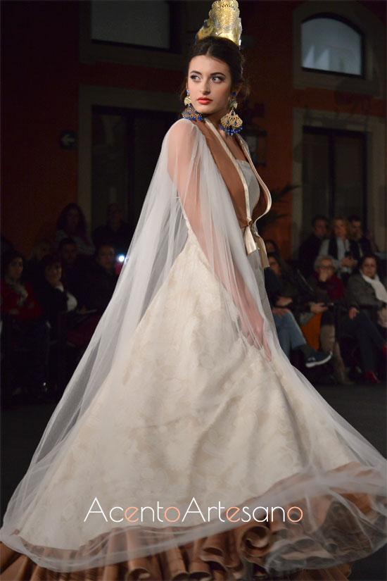 Traje de flamenca setentero de Javier del Álamo